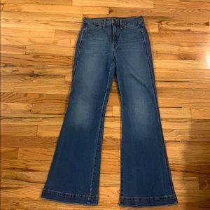 GAP: NWOT High Rise Flare Jeans w Secret Smoothing
